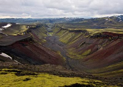 El cañón de fuego. Islandia
