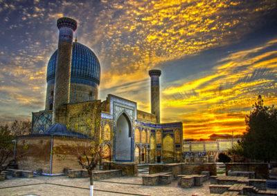 Mausoleo-de-Gur-e-Amir-Samarkanda-