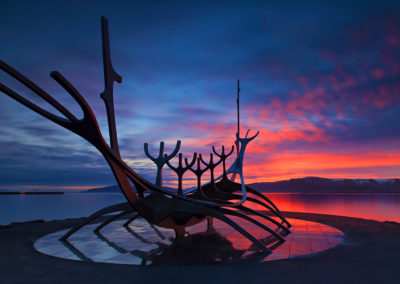 The Sun Voyager Es una escultura de Jón Gunnar Árnason