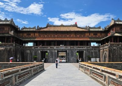 Entrance to Hue citadel and Forbidden City in Hue