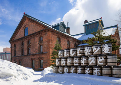 sapporo-beer-museum-winter-scene-hokkaido-japan-82784804